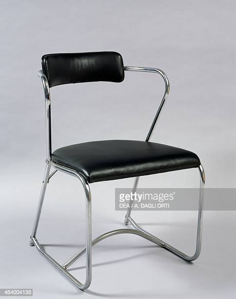 Chair 19301940 steel and leather United States of America 20th century