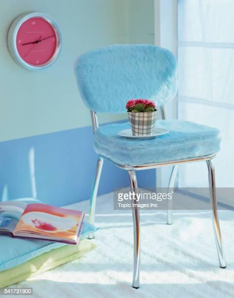 Chair and flowerpot