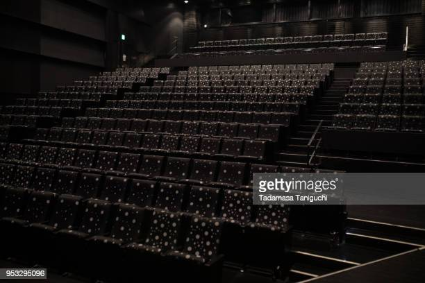 chair at concert hall - concert hall stock pictures, royalty-free photos & images
