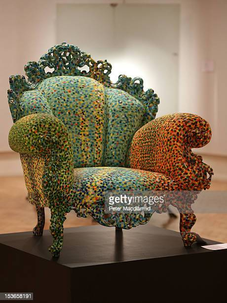 A chair by Alessandro Mendini for Studio Alchymia is displayed at Bonhams auctioneers on October 8 2012 in London England Estimated at £20000 30000...
