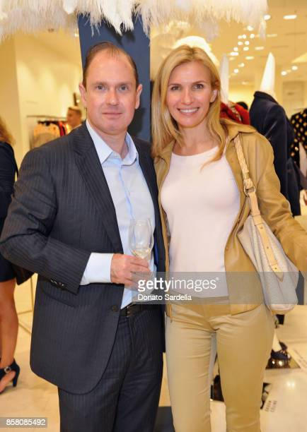 Chair Committee David Unger and Monella Kaplan attend a Cocktail Event in support of HOLA Heart of Los Angeles hosted by Barneys New York at Barneys...