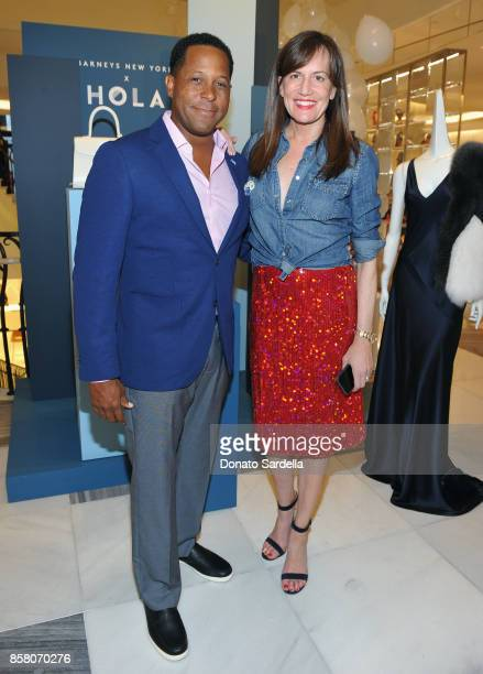 Chair Committee Tony Brown and CEO of Barneys New York Daniella Vitale attend a Cocktail Event in support of HOLA Heart of Los Angeles hosted by...
