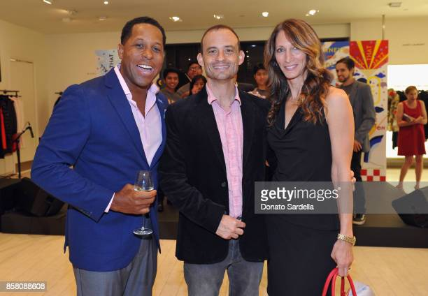 HOLA Chair Committee Tony Brown Jerry Neglia and Jessica Shulman attend a Cocktail Event in support of HOLA Heart of Los Angeles hosted by Barneys...