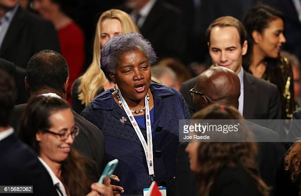 Chair Donna Brazile arrives before the start of the third US presidential debate at the Thomas Mack Center on October 19 2016 in Las Vegas Nevada...
