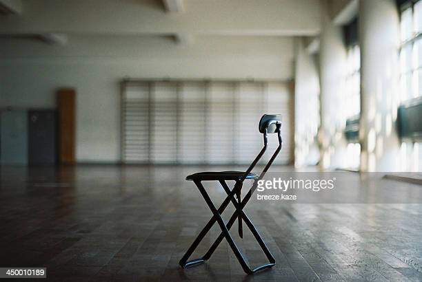 A chair in an empty training room