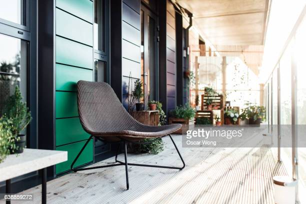 A chair in balcony