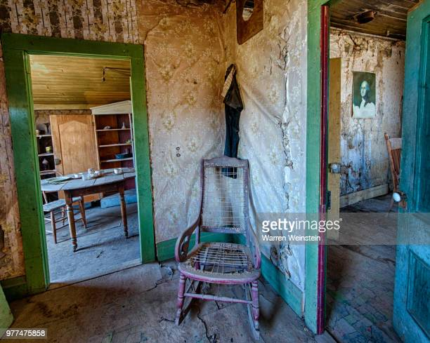 chair in old abandoned house, bodie, california, usa - weinstein stock pictures, royalty-free photos & images