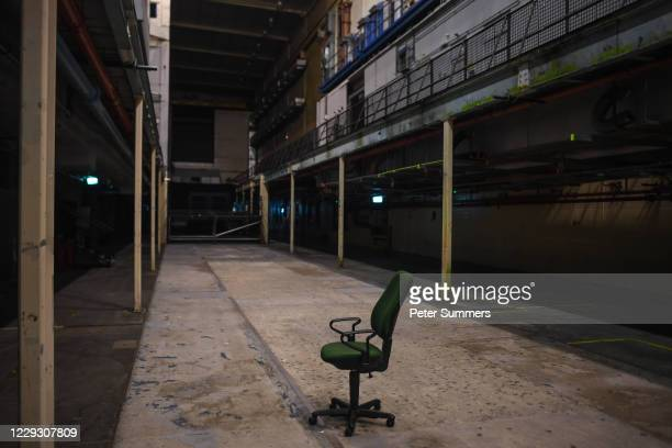 Chair is seen in the middle of the dance floor at Printworks nightclub on October 27, 2020 in London, England.The 5,000-capacity music venue,...
