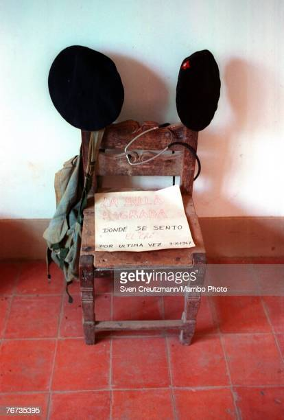 A chair is shown in the Che Guevara museum in La Higuera Bolivia Septermber 9 2004 where Che Guevara spent his last night alive before he was killed...