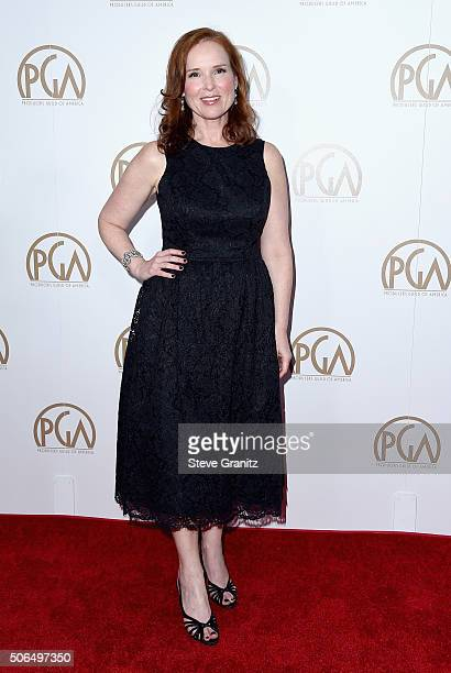 PGA chair Jennifer Todd attends the 27th Annual Producers Guild Awards at the Hyatt Regency Century Plaza on January 23 2016 in Century City...
