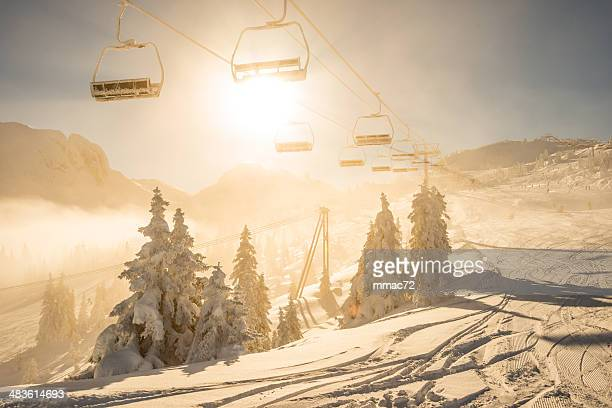 Chair lift in the sun