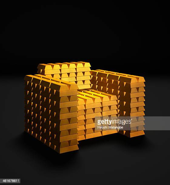 Chair made of  gold bars