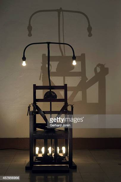 A chair modeled after the electric chair used in New Bilibid Prison