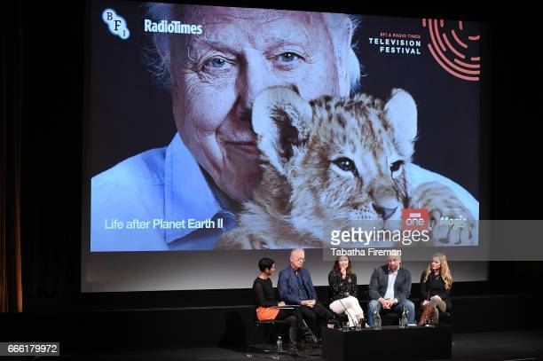 Chair Naga Munchetty with Mike Gunton Elizabeth White James Honeyborne and guest as they discuss 'Life After Planet Earth 2' during the BFI Radio...
