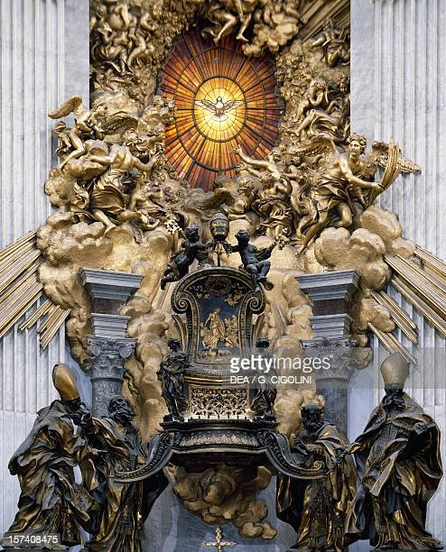 Chair of St Peter 15561565 reliquary by Gian Lorenzo Bernini choir of St Peter's Basilica Rome Vatican City 17th century
