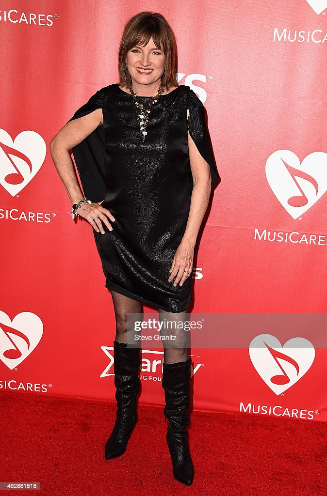 Chair of the Board of Trustees Christine Albert attends the 25th anniversary MusiCares 2015 Person Of The Year Gala honoring Bob Dylan at the Los Angeles Convention Center on February 6, 2015 in Los Angeles, California. The annual benefit raises critical funds for MusiCares' Emergency Financial Assistance and Addiction Recovery programs. For more information visit musicares.org.