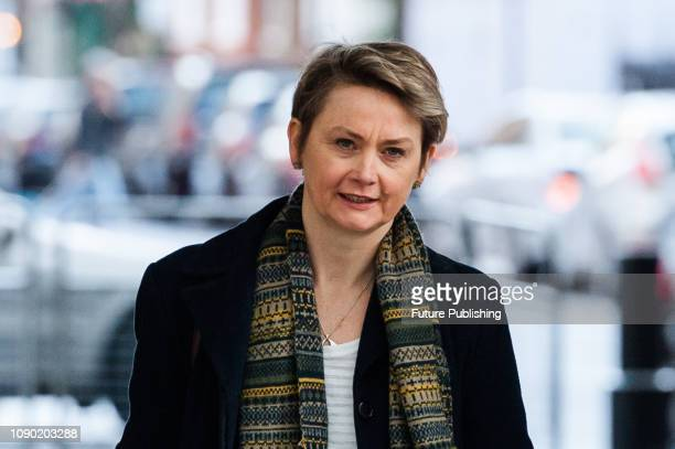 Chair of the Home Affairs Select Committee Yvette Cooper MP arrives at the BBC Broadcasting House in central London to appear on The Andrew Marr Show...
