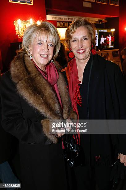 Chair of the Honorary Committee Alexandra ElKhoury and Nathalie de la Bedoyere attend 'Un Temps De Chien' Theater Gala Premiere to Benefit ARSEP...