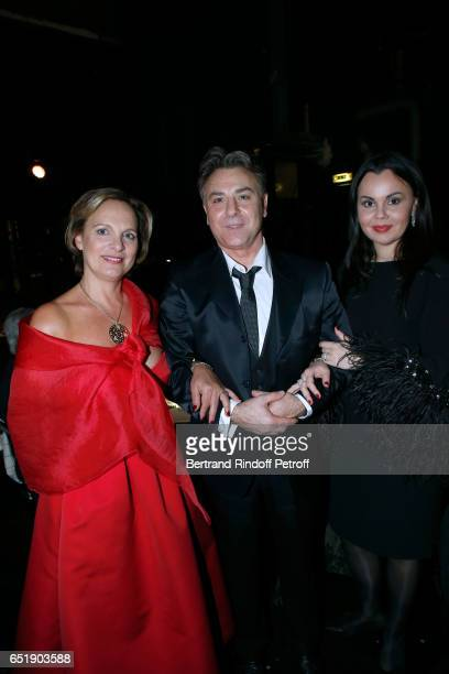 Chair of the Honorary Committee of the AROP Isabelle Weill Tenor Roberto Alagna and Soprano Alexandra Kurzak attend the AROP Charity Gala with the...