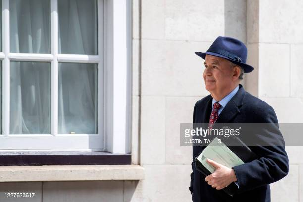 Chair of the intelligence and security committee MP Julian Lewis leaves the committee offices in central London on July 16, 2020. - A long-awaited...
