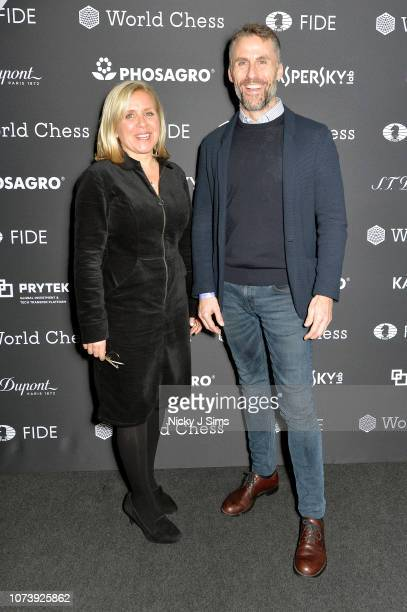 Chair of The Stephen Hawking Foundation, Lucy Hawking and head of global partnerships and sponsorships at Kaspersky Lab, Aldo del Bo attend the...
