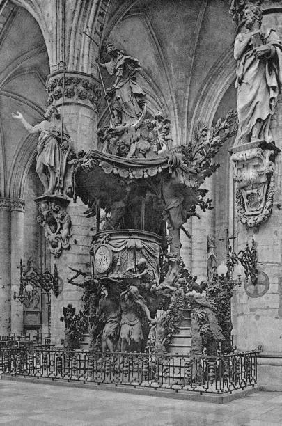 chair of verity saint gudule church brussels belgium 1920