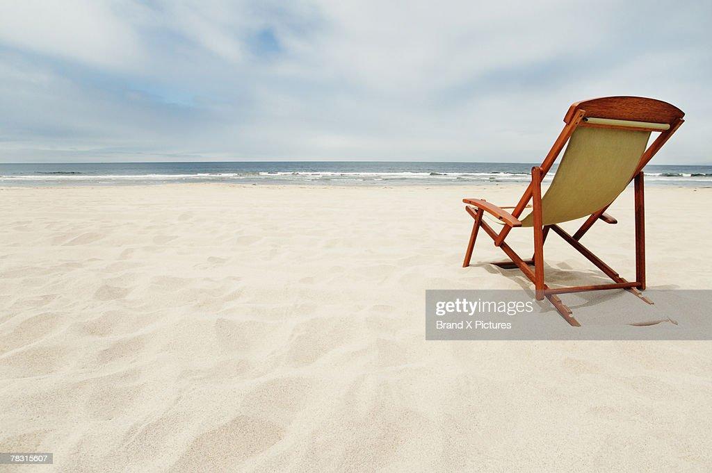 Chair on beach : ストックフォト