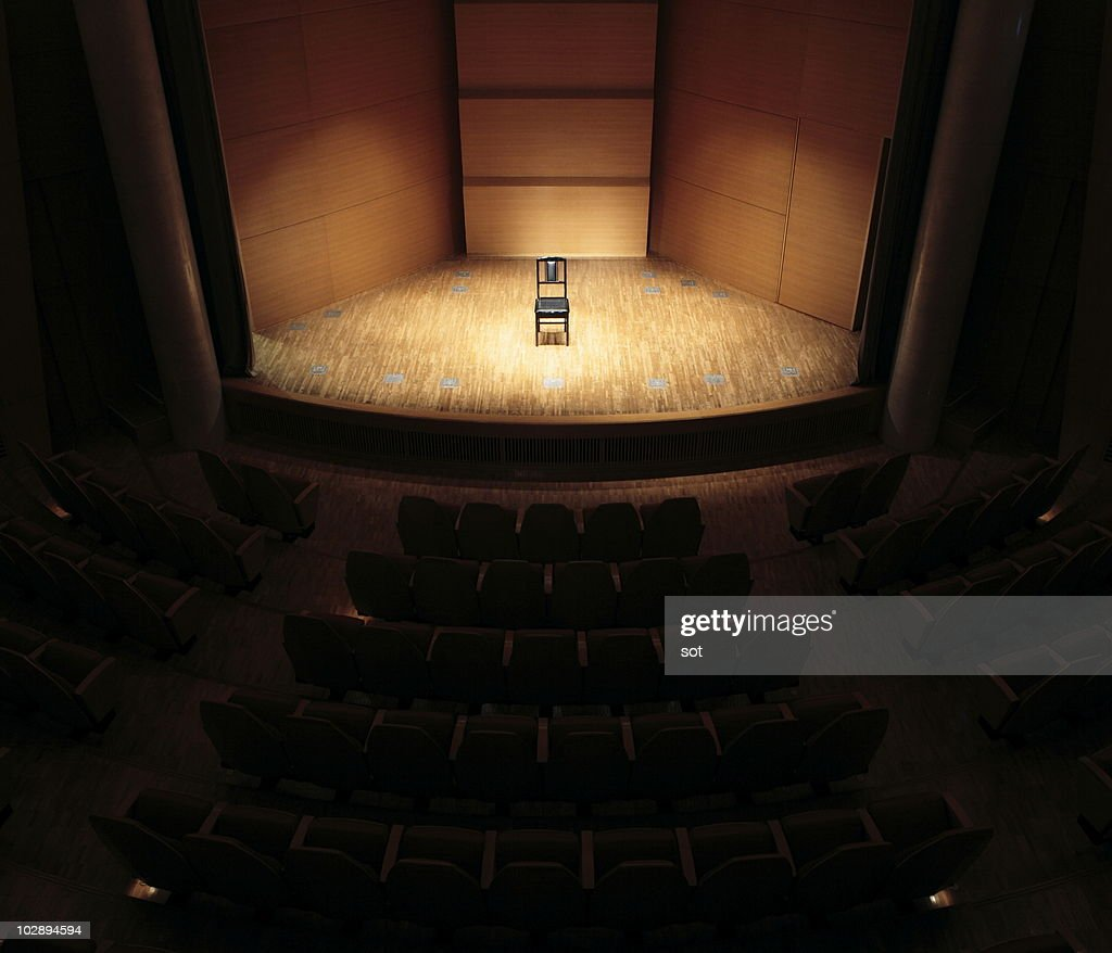 A Chair On Stage Stock Photo Getty Images