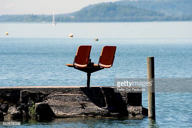 Chair on the lake of Biel Switzerland
