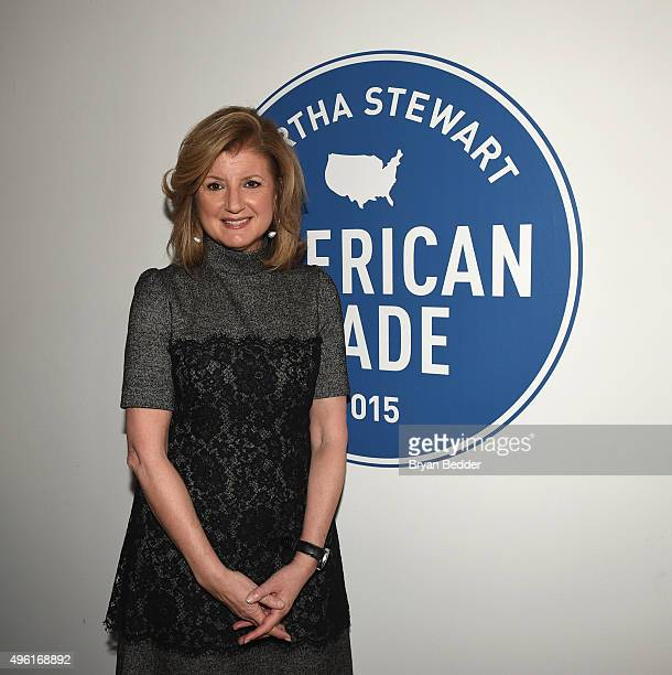 Chair President and EditorinChief Huffington Post Media Arianna Huffington poses for a photo during Martha Stewart American Made Summit at Martha...