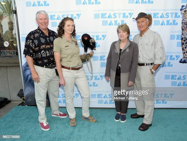 GLAZA Chair Richard Corgel guest with Bataleur Eagle Los Angeles Zoo President Connie Morgan and Director Emeritus of the Columbus Zoo Jack Hanna...