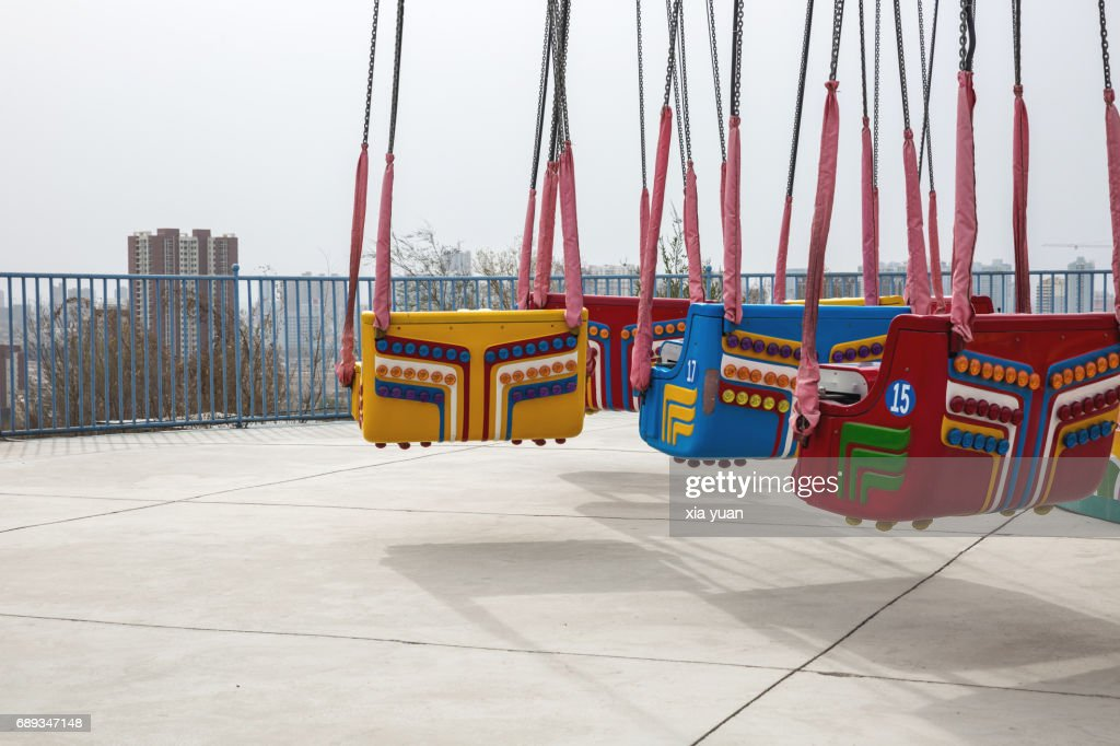 Chair swing ride in the park : Stock Photo