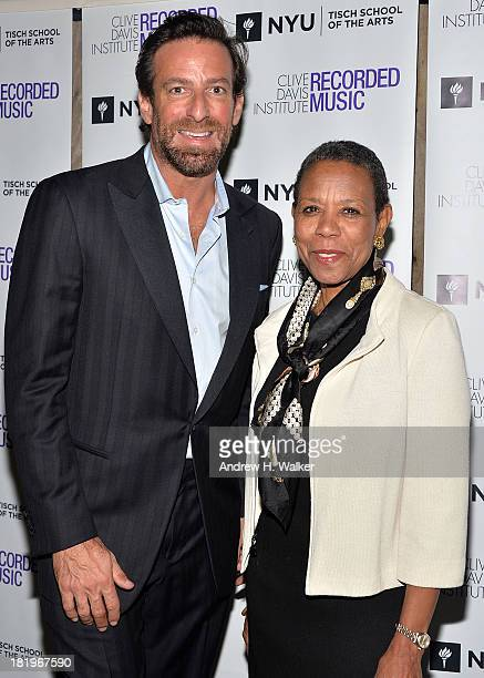 Chair The Clive Davis Institute of Recorded Music NYU Jeff Rabhan and Dean Tisch School of the Arts Mary Schmidt Campbell attend the Clive Davis...