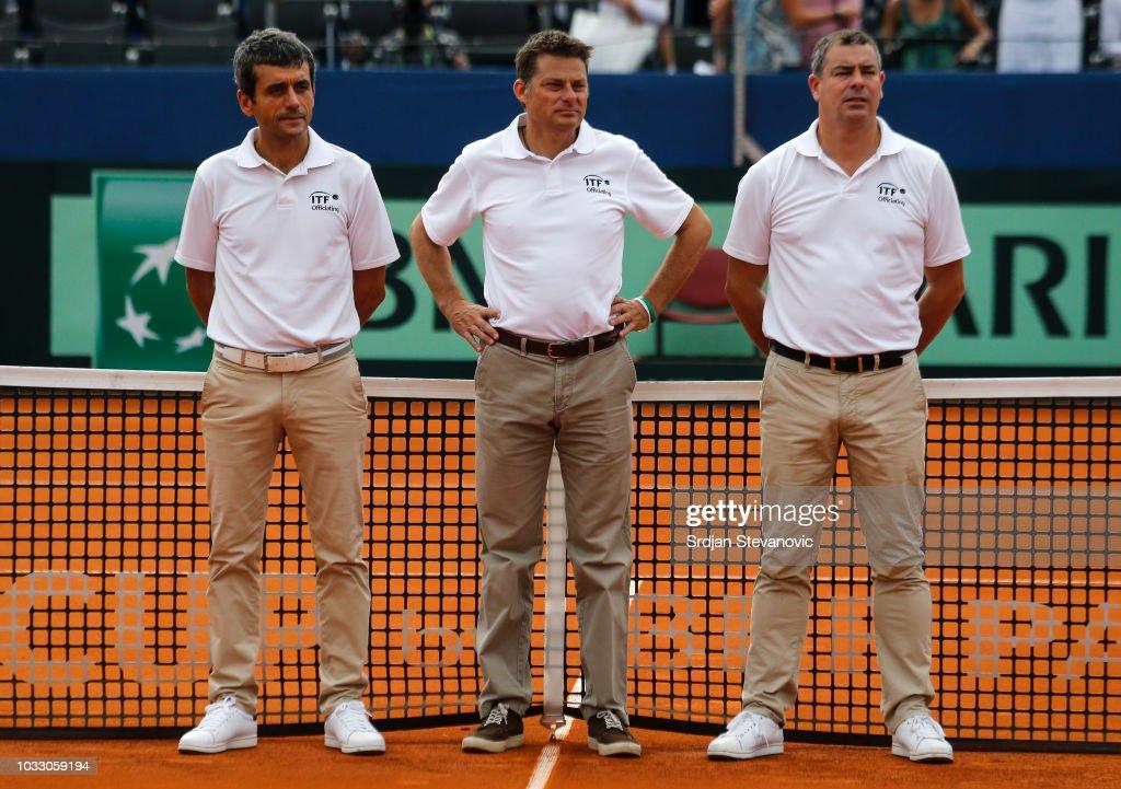 Croatia v USA - Davis Cup by BNP Paribas World Group Semi Final: Day One : News Photo