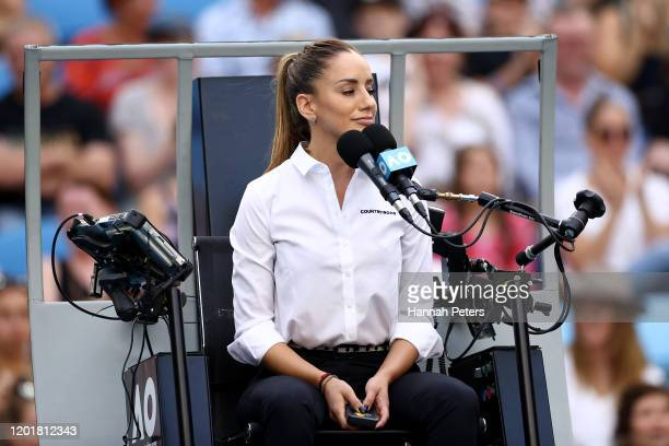 Chair Umpire Marijana Veljovic looks on in the Men's Singles third round match between Alexander Zverev of Germany and Fernando Verdasco of Spain on...