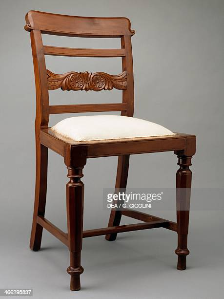Chair with upholstered seat Colonial period AngloIndian origin India 19th century