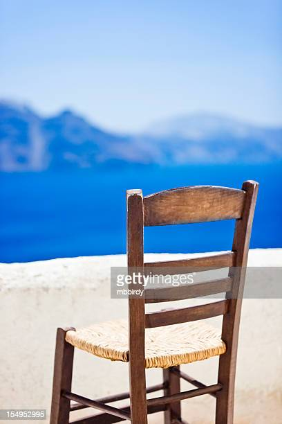 Chair with view on Satorini caldera