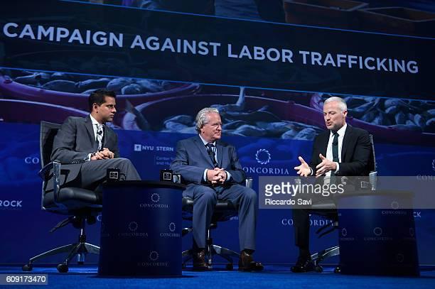 Chair World Economic Forum Oceans Council Nishan Degnarain Founder Principal Transparentem Ben Skinner President Oceans 8 Films Jon Bowermaster and...