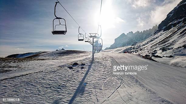 Chairlift in Dolomites Skiarea