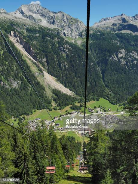 Chairlift In Formazza Valley, Lepontine Alps, Northern Italy