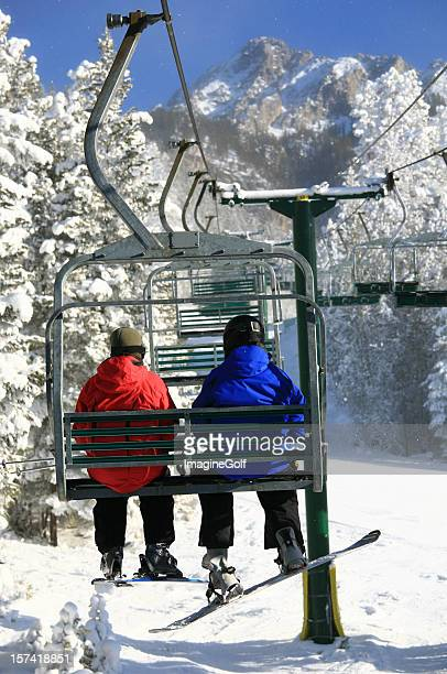 chairlift - ski lift stock pictures, royalty-free photos & images