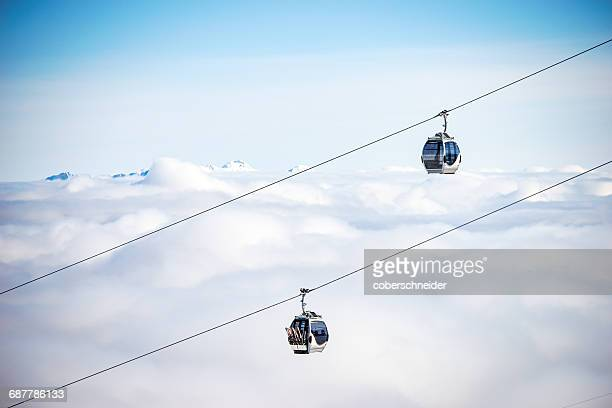 chairlifts, kitzsteinhorn, salzburg, austria - ski lift stock pictures, royalty-free photos & images