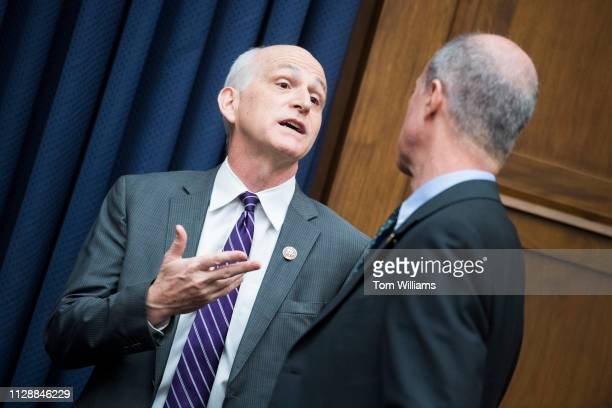 Chairman Adam Smith, D-Wash., left, and ranking member Rep. Mac Thornberry, R-Texas, are seen before a House Armed Services Committee hearing titled...
