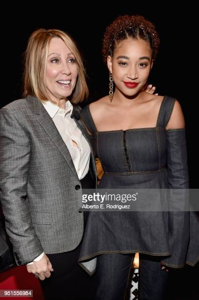 Chairman and CEO 20th Century Fox Stacey Snider and actor Amandla Stenberg attend CinemaCon 2018 20th Century Fox Invites You to a Special...