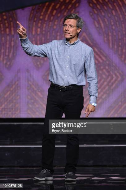 Chairman and CEO Allstate Tom Wilson speaks onstage during WE Day UN 2018 at Barclays Center on September 26 2018 in New York City