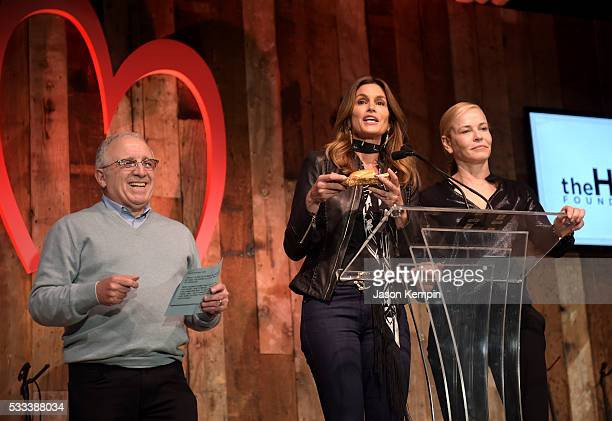 Chairman and CEO Azoff/MSG Entertainment Irving Azoff model Cindy Crawford and tv personality Chelsea Handler speak onstage during The Heart...