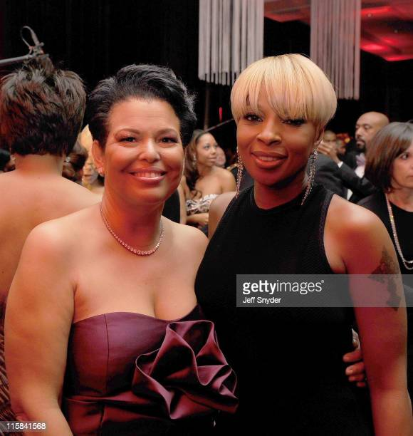 BET Chairman and CEO Debra L Lee and Mary J Blige attend the BET Inauguration Ball at the Mandarin Oriental Hotel on January 20 2009 in Washington DC