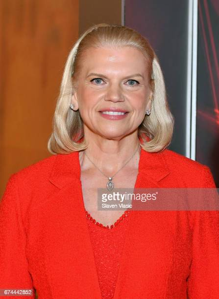 IBM Chairman and CEO Ginni Rometty visits Mornings with Maria at Fox Business Network at FOX Studios on April 28 2017 in New York City