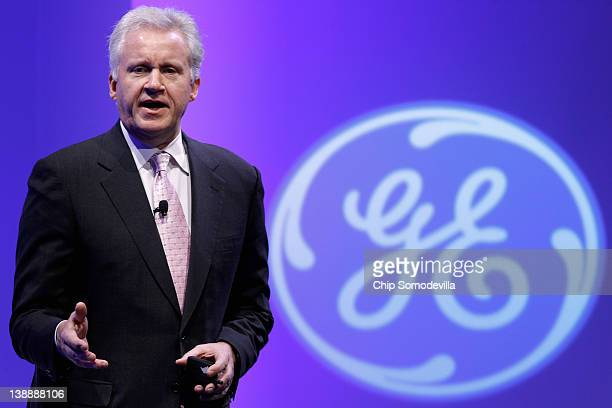 Chairman and CEO Jeffrey Immelt delivers opening remarks during the global conglomerate's fourday event 'American Competitiveness What Works' at the...