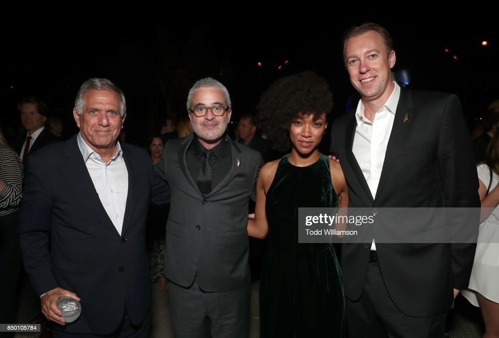 Chairman and CEO Leslie Moonves, Executive Producer Alex Kurtzman, Sonequa Martin-Green, CBS Interactive President and COO Marc DeBevoise attend the after party for the premiere of CBS's 'Star Trek: Discovery' at the Dream Hotel on September 19, 2017 in Los Angeles, California.